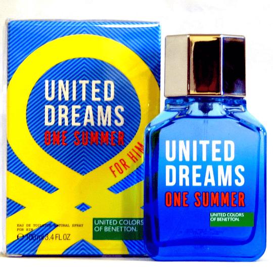 United Dreams One Summer para hombre / 100 ml Eau De Toilette Spray