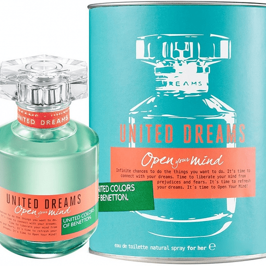 United Dreams Open Your Mind para mujer / 80 ml Eau De Toilette Spray