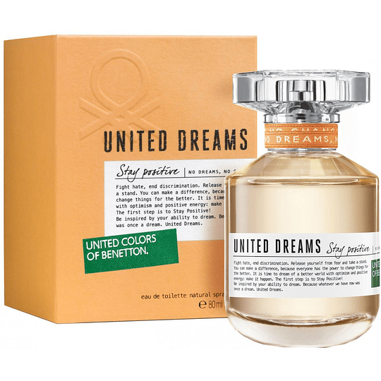 United Dreams Stay Positive para mujer / 80 ml Eau De Toilette Spray
