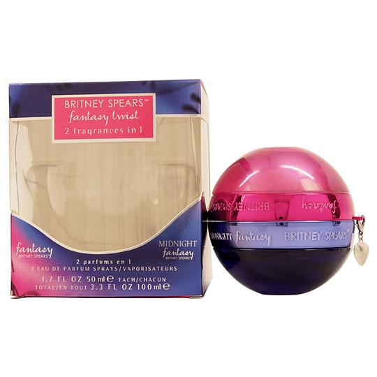 Fantasy Twist (Fantasy + Midnight Fantasy) para mujer / 50 + 50 ml Eau De Parfum Spray