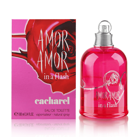 Amor Amor in a Flash para mujer / 100 ml Eau De Toilette Spray