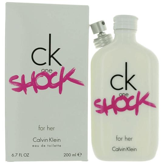 CK One Shock para mujer / 200 ml Eau De Toilette Spray