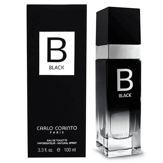 Carlo Corinto Black para hombre / 100 ml Eau De Toilette Spray