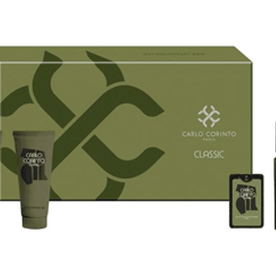 Carlo Corinto Classic para hombre / SET - 100 ml Eau De Toilette Spray