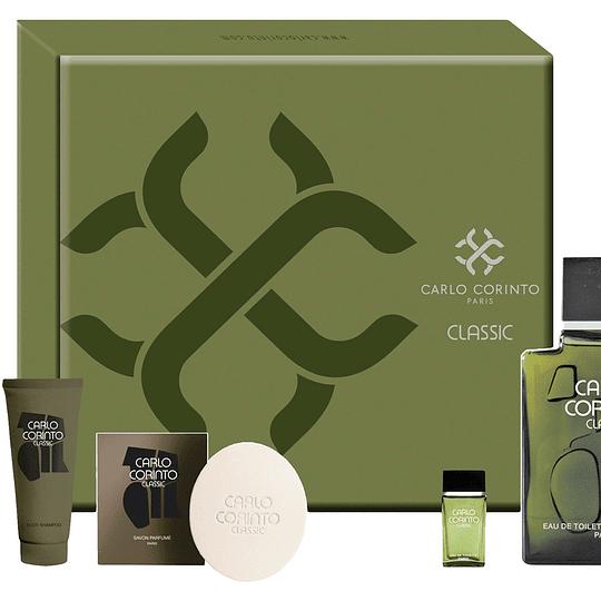 Carlo Corinto Classic para hombre / SET - 400 ml Eau De Toilette Spray