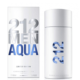 212 Men Aqua para hombre / 100 ml Eau De Toilette Spray