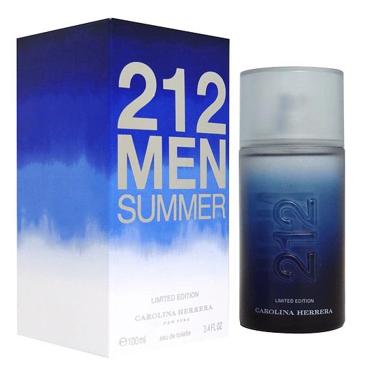212 Men Summer para hombre / 100 ml Eau De Toilette Spray