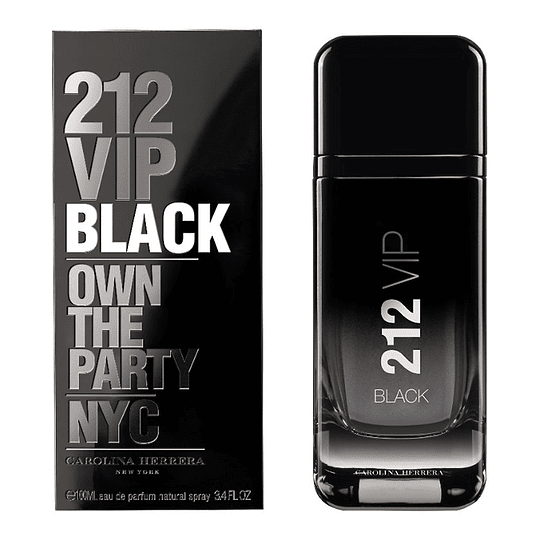 212 Vip Black para hombre / 100 ml Eau De Parfum Spray