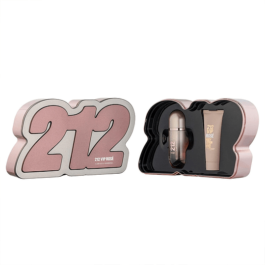 212 Vip Rosé para mujer / SET - 80 ml Eau De Parfum Spray