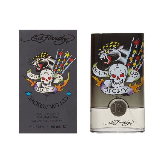 Ed Hardy Born Wild para hombre / 100 ml Eau De Toilette Spray