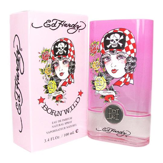 Ed Hardy Born Wild para mujer / 100 ml Eau De Parfum Spray