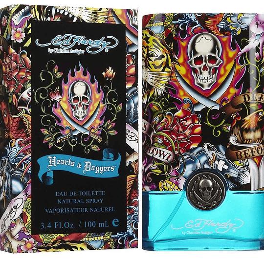 Ed Hardy Hearts & Daggers para hombre / 100 ml Eau De Toilette Spray