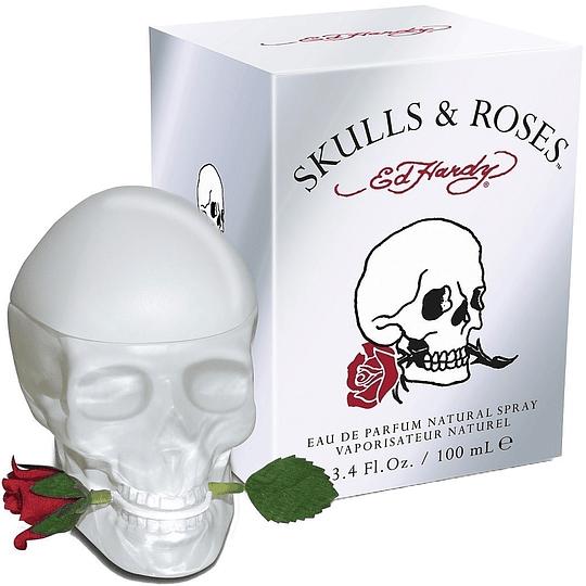 Ed Hardy Skull & Roses para mujer / 100 ml Eau De Parfum Spray