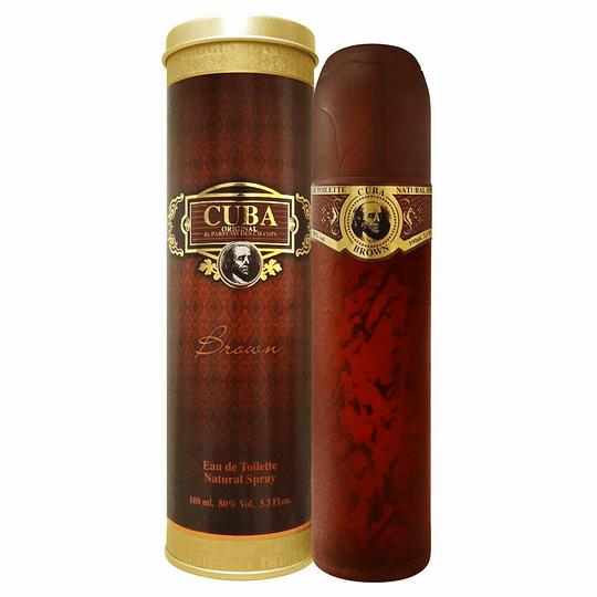Cuba Brown para hombre / 100 ml Eau De Toilette Spray