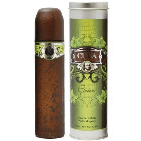 Cuba Green para hombre / 100 ml Eau De Toilette Spray