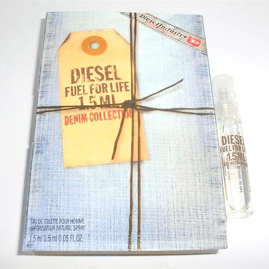 Diesel Fuel For Life (Denim collection) para mujer / AMPOLLETA - 1.5 ml Eau De Toilette Spray