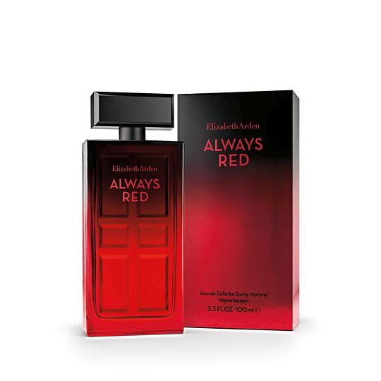 Always Red para mujer / 100 ml Eau De Toilette Spray