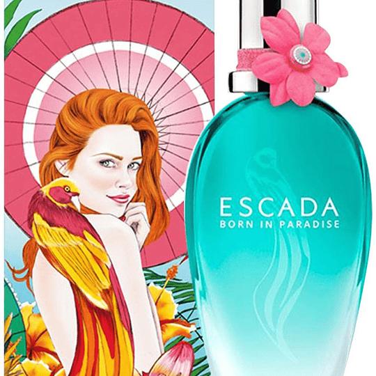 Escada Born in Paradise para mujer / 100 ml Eau De Toilette Spray