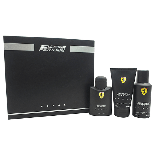 Ferrari Scuderia Black para hombre / SET - 125 ml Eau De Toilette Spray