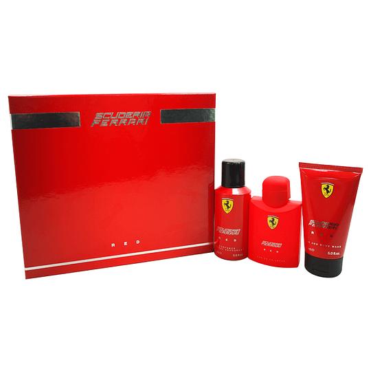 Ferrari Scuderia Red para hombre / SET - 125 ml Eau De Toilette Spray