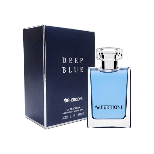 Ferrioni Deep Blue para hombre / 100 ml Eau De Toilette Spray