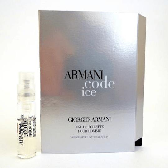 Armani Code Ice para hombre / AMPOLLETA - 1.5 ml Eau De Toilette Spray