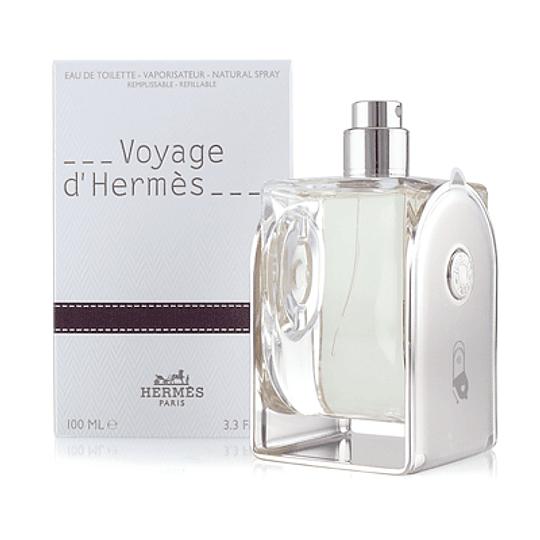 Voyage D' Hermes para hombre y mujer / 100 ml REFILLABLE Eau De Toilette Spray