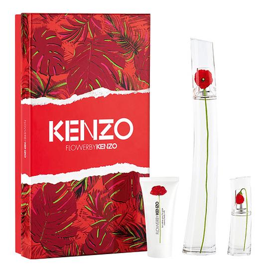 Flower by Kenzo para mujer / SET - 100 ml Eau De Parfum Spray
