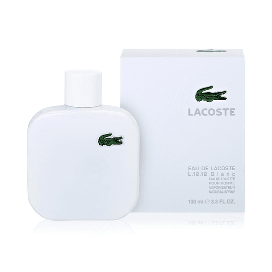 Eau de Lacoste L.12.12 Pour Lui Blanc para hombre / 100 ml Eau De Toilette Spray