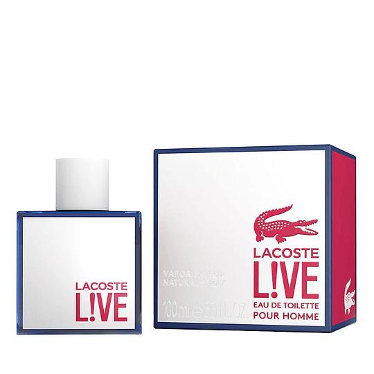 Lacoste Live para hombre / 100 ml Eau De Toilette Spray