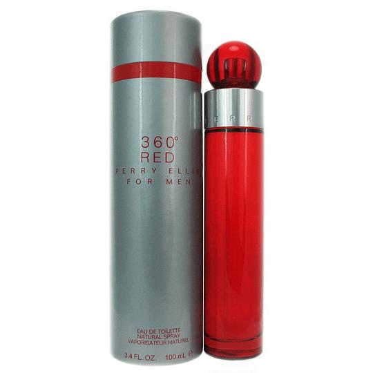 360º Red para hombre / 100 ml Eau De Toilette Spray