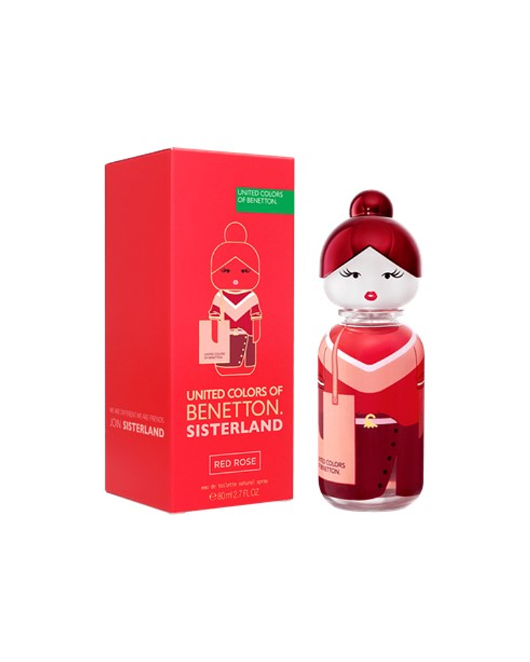 Benetton Sisterland Red Rose EDT 80ml