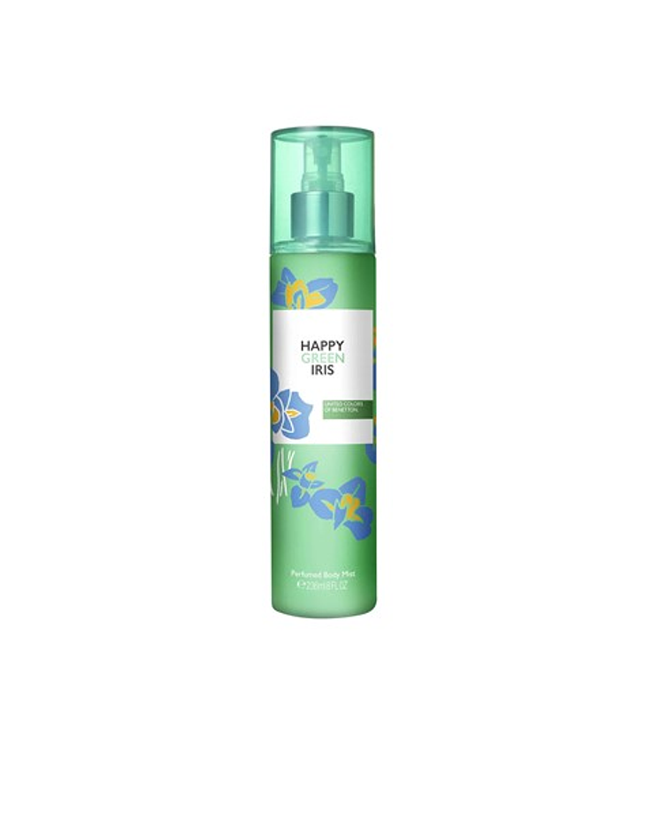 Benetton Happy Green Iris Body Mist 236ml