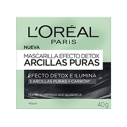 Mascarilla Efecto Detox Arcillas Puras 40Gr L'Oréal Paris