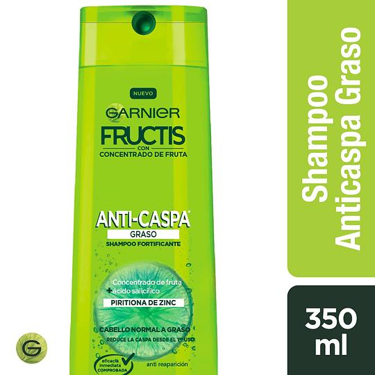 Shamp Fructis Anticaspa  graso 350 ml