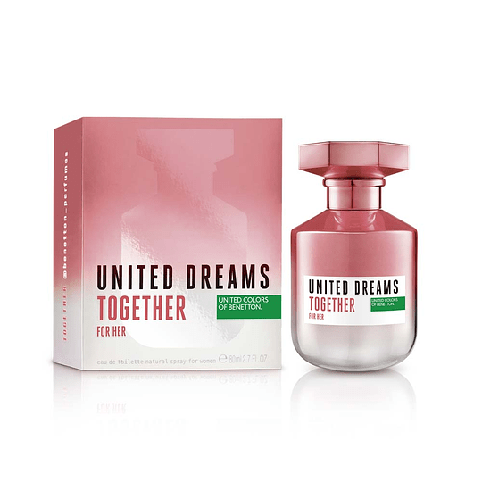 United Dreams Together Edt 80ml Mujer