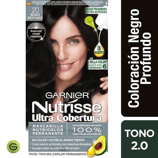 Nutrisse Ultra Cob 2.0 Ne  gr Cl Prof 3 Aceites
