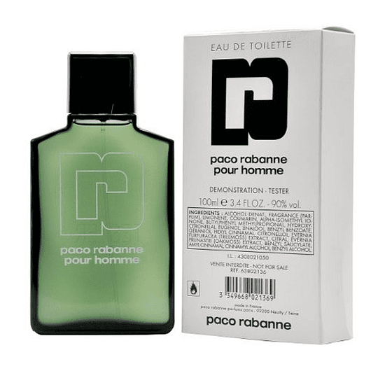 Paco Rabanne Pour Homme Tester Edt 100Ml Hombre
