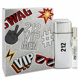 Estuche 212 Vip Men Swag Edt 100 Ml +10 Ml Mini Hombre