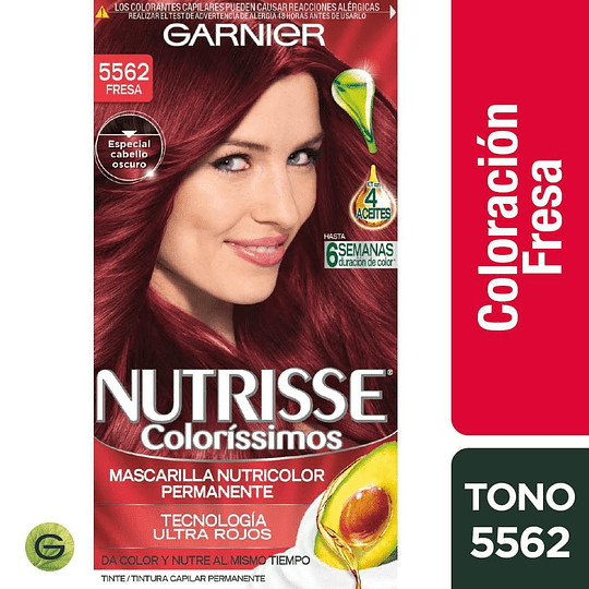 Nutrisse Colorissimos 5562 Fresa 3 Aceites