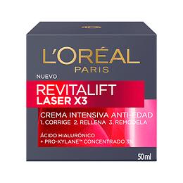 Crema Día Anti-Arrugas Revitalift Láser 50ml L'Oréal Paris