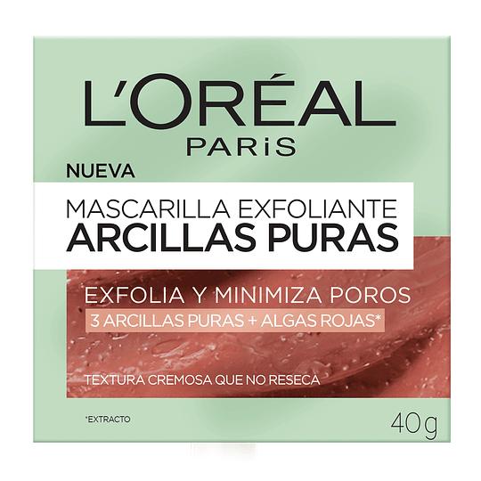 Mascarilla Exfoliante Arcillas Puras 40Gr L'Oréal Paris