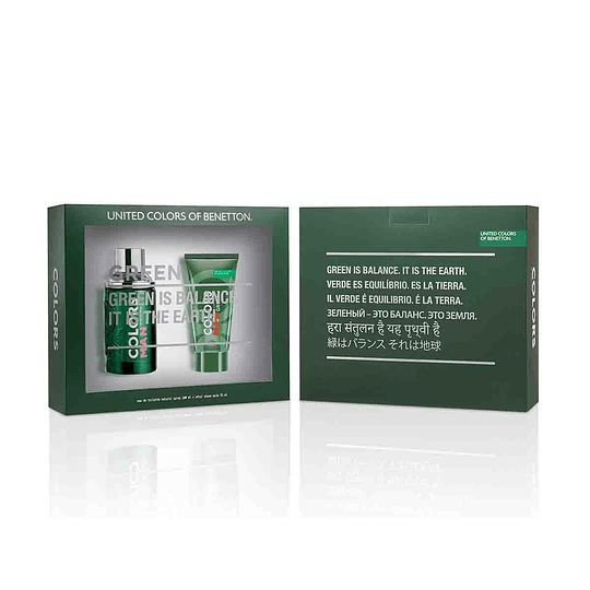 Estuche Colors Green Man Edt 100Ml+75Ml A/S Hombre