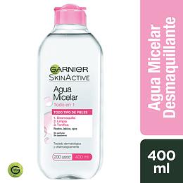 Agua Micelar 400Ml Clasica Garnier Skin Active