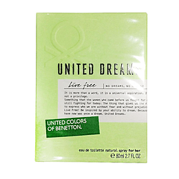 United Dreams Live Free 80ML EDT Mujer Benetton