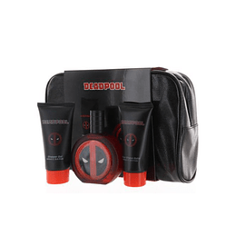 marvel deadpool 3pc estuche 100ml edt+shower gel+after shave