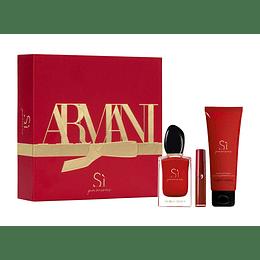 Estuche Armani Si Passione EDP 50ml +75ml + Mini Lip Maestro Mujer