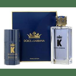 Estuche K By Dolce & Gabbana Travel Edt 100Ml+75Ml Desodorante Hombre