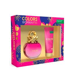 Estuche Colors Pink Benetton Edt 80Ml+75Ml B/L Mujer