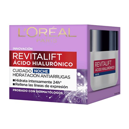 Crema Noche Anti-Arrugas Revitalift Ácido Hialurónico 50ml